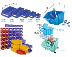 28-PLASTIC BINS FOR STORAGE