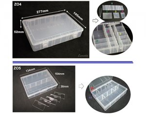 42-16-4 PLASTIC DIVIDER CASE -REMOVABLE DIVIDER