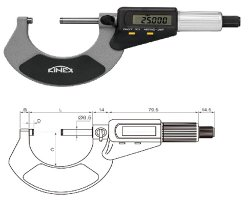 45-digital outside micrometer kinex